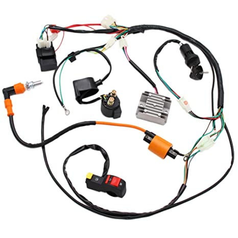 Full Electrics Wiring Harness Performance Coil CDI 150 200 250cc ATV on