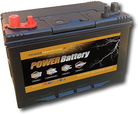 BATTERY Batterie décharge Lente Camping Car Bateau 12v 110ah 330x172x242mm