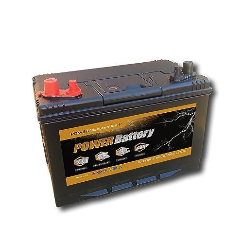 Batterie décharge lente camping car bateau 12v 120ah 330x172x242mm
