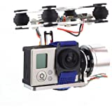 DJI Phantom Brushless Gimbal Camera Frame + 2*Motors +Controller for Gopro 4 3+ 3 FPV