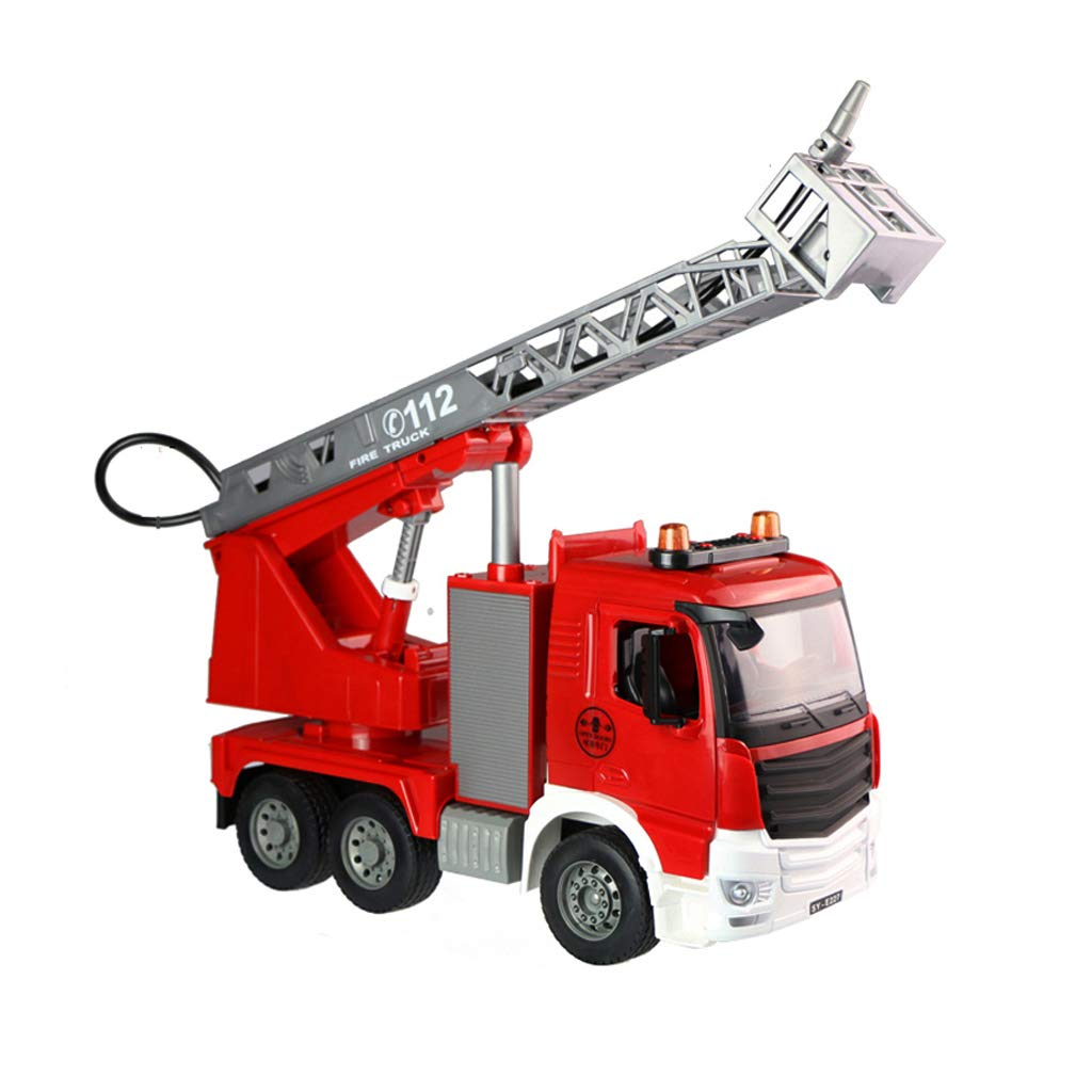 Red Lingling Toy Engineering Car Water Jet Fire Truck Toy Construction Boy Gift Model 1 20 (color   RED)