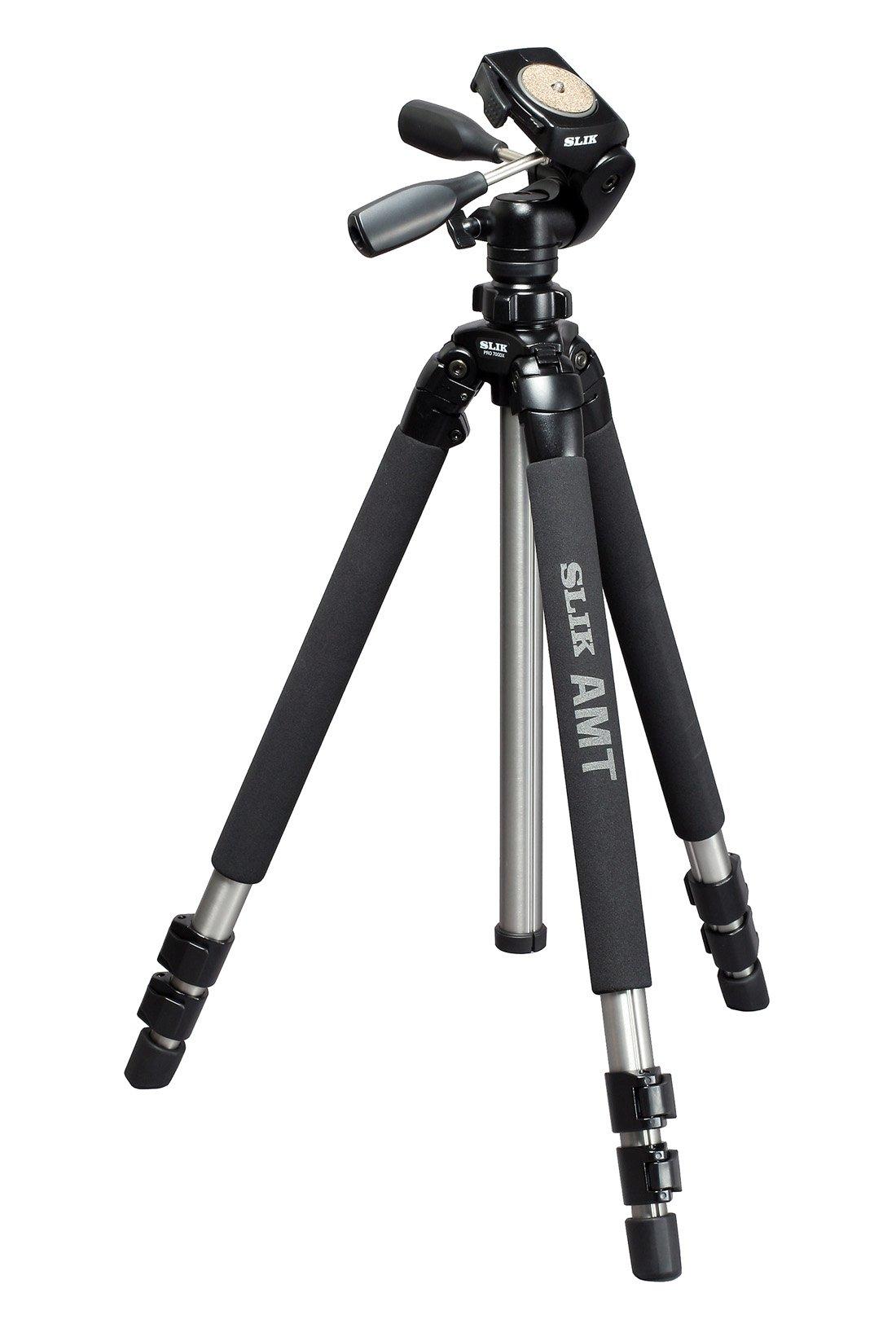 SLIK Pro 700 DX Tripod with 700DX 3-Way, Pan-and-Tilt Head - Titanium by Slik