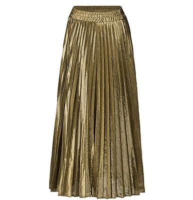Moda para mujer Falda acampanada A-Line Falda de cintura alta ...