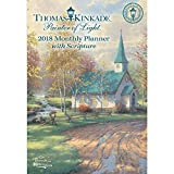 Thomas Kinkade Painter of Light with Scripture 2018 Monthly Pocket Planner Calen
