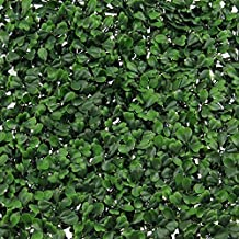 """Synturfmats Artificial Boxwood Hedge Privacy Fence Screen Greenery Panels - Two Tone Green (20""""x20"""" Pack of 6pcs)"""