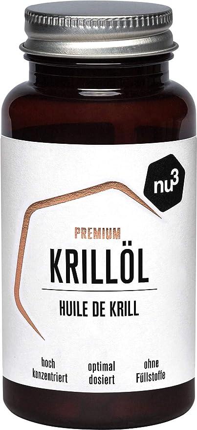 nu3 Aceite de Kril Premium | 60 cápsulas del valioso aceite de cangrejo | Fuente 100