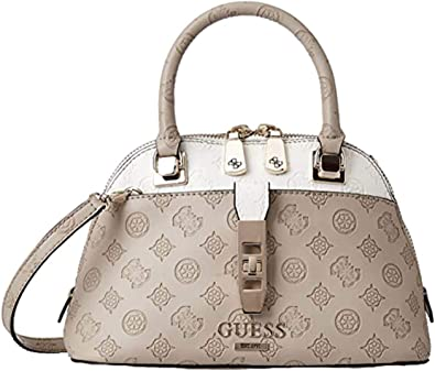 Guess - Petit sac à main femme tendance forme bugatti bandoulière  simili-cuir Peony Logo (hwsg7398050) taille 19 cm