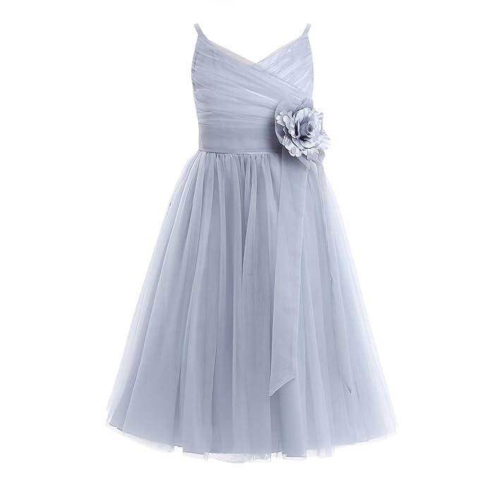 YiZYiF Vestido De Ceremonia Nina Niñas Vestidos de Princesa Sin Mangas para Boda Fiesta Bautizo 2