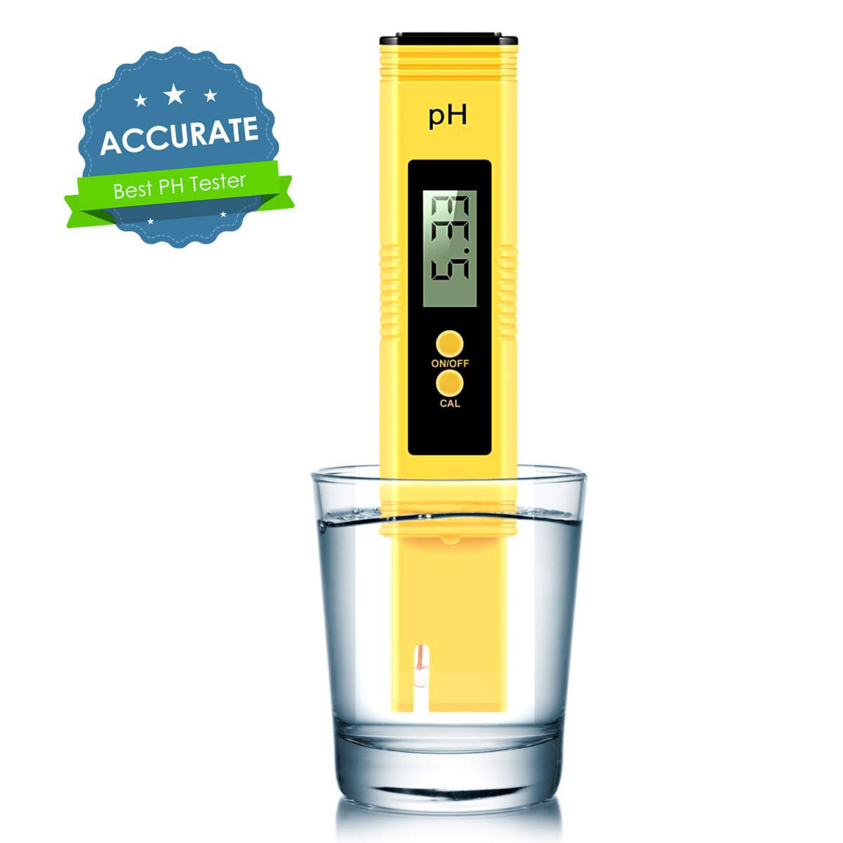 Vminno Digital PH Meter, PH Meter 0.01 PH High Accuracy Water Quality Tester with 0-14 PH Measurement Range for Household Drinking, Pool and Aquarium Water PH Tester Design with ATC ... (2019)