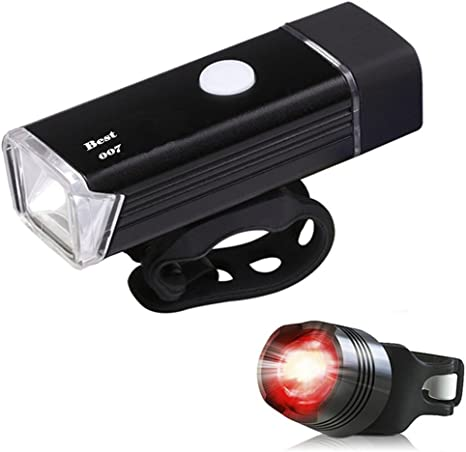 Best 007 set de iluminaciOn LED para bicicleta, recargable: Amazon ...
