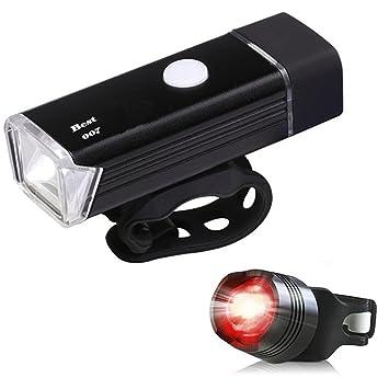Best 007 set de iluminaciOn LED para bicicleta, recargable: Amazon.es: Deportes y aire libre