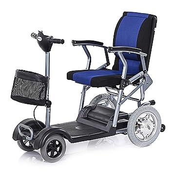 EMOGA Scooter Mobility | Scooter Minusválidos | Vehículo De Movilidad | Moto Minusválidos | Moto para Personas Mayores |27Kg 4 Ruedas | Negro Azul: ...