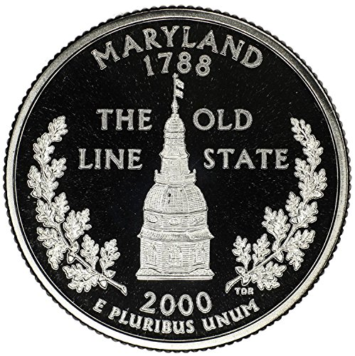- 2000 S State Quarter Maryland Gem Proof Condition