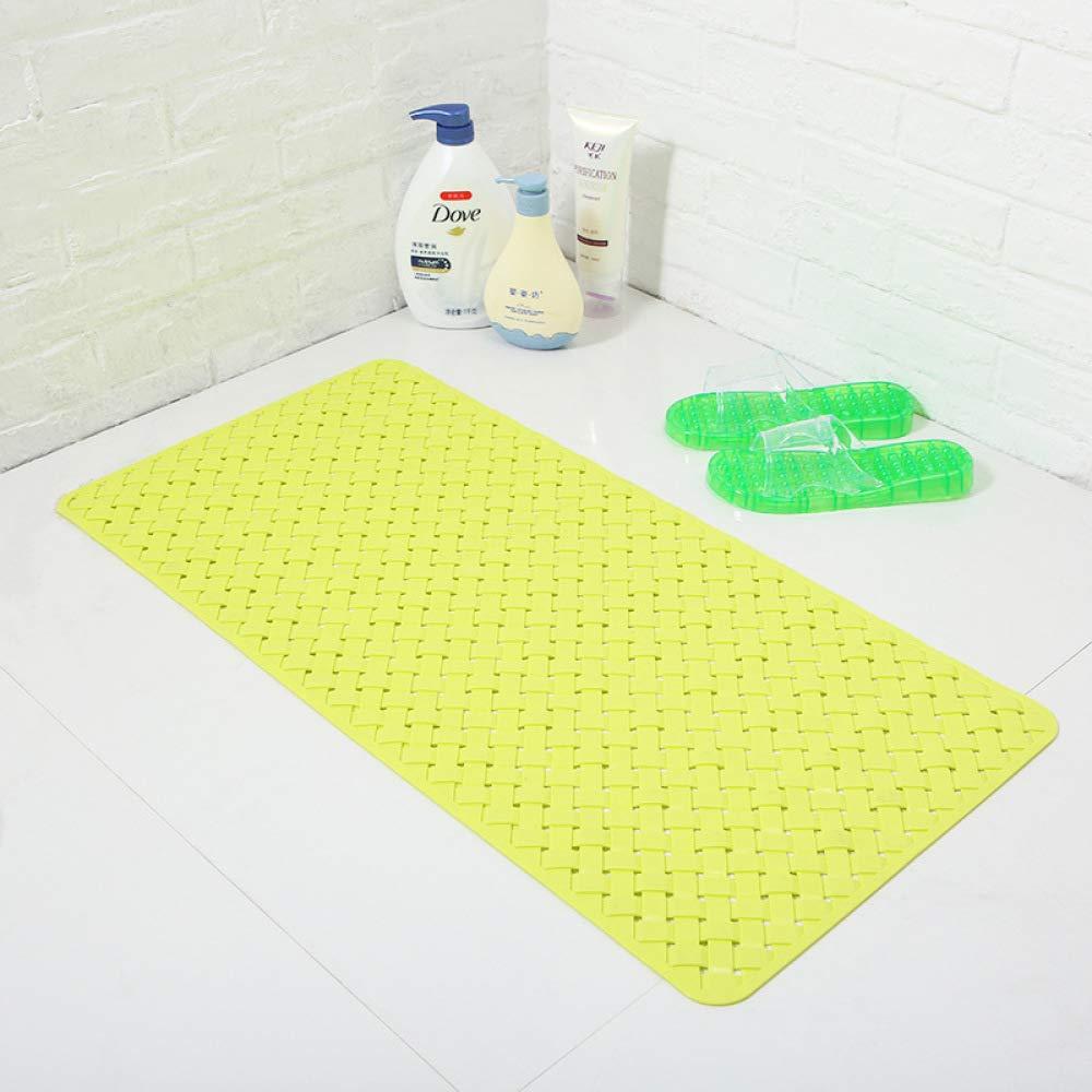 PLLP Candy Color Tasteless Bathroom Mat, Shower Room Mat Bathroom Toilet Hotel Bathroom Mat,Yellow,7738cm
