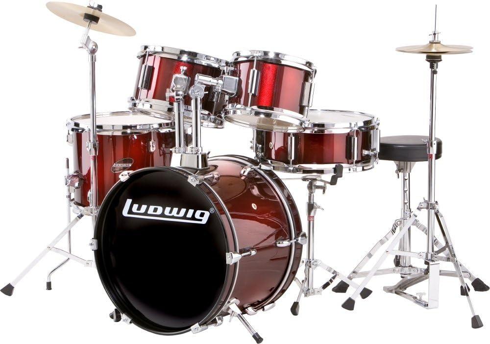 Ludwig Junior Drum Kit, Wine (LJR1064)