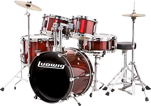 Ludwig Junior Drum Kit, Wine (LJR1064)