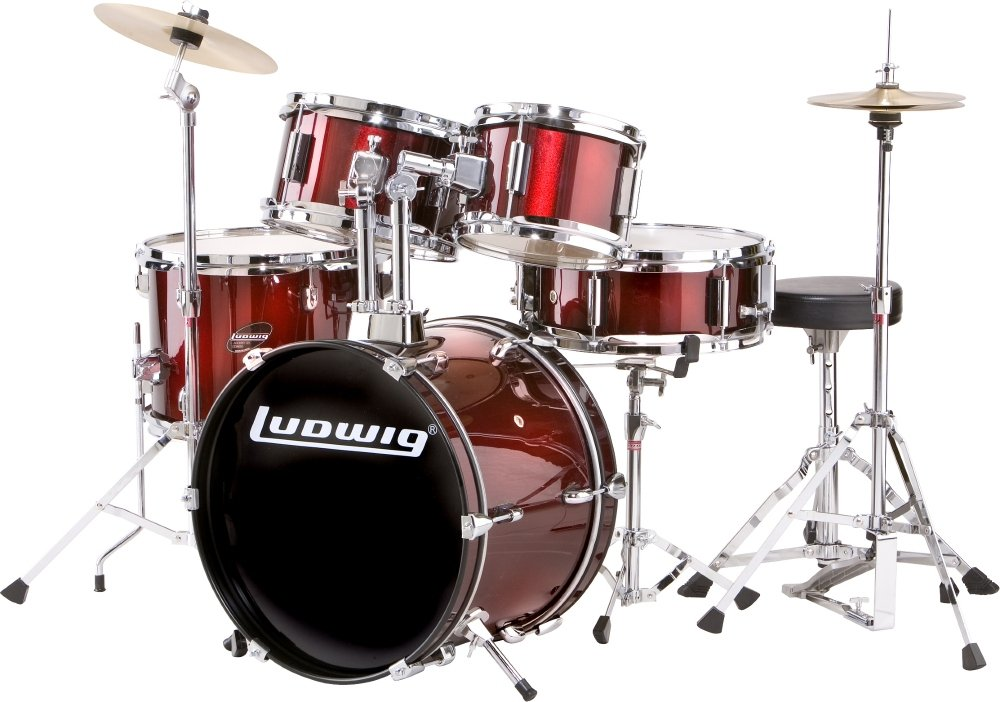 Ludwig Junior 5 Piece Drum Set with Cymbals (Blue) LJR1062