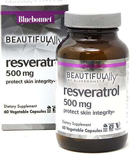Amazon Com Bluebonnet Nutrition Beautiful Ally Resveratrol 500mg