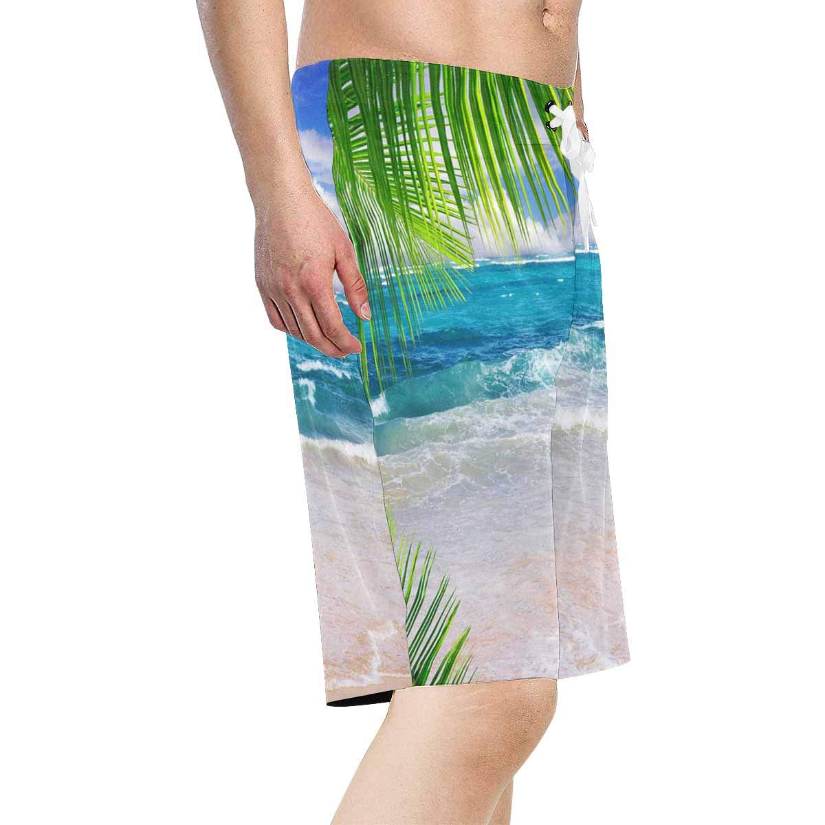 INTERESTPRINT Mens Printed Board Shorts Loose Fit Quick Dry No Mesh Lining