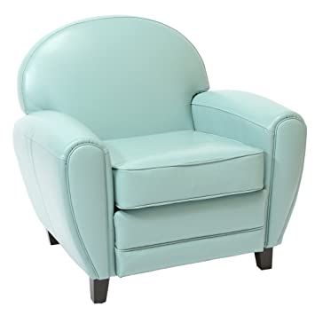 Prime Christopher Knight Home Hayley Teal Blue Leather Club Chair Short Links Chair Design For Home Short Linksinfo