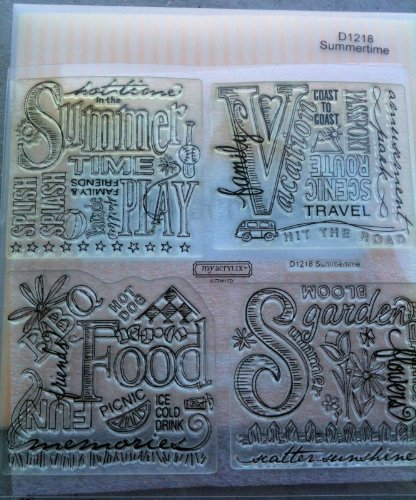 - CTMH Acrylic Stamps 'Summertime'