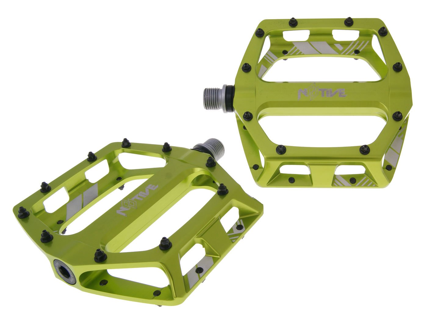 N8tive Flat Pedal Free DH 105x110mm - grün
