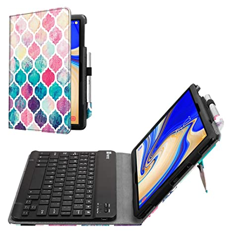 Fintie Folio Keyboard Case for Samsung Galaxy Tab S4 10 5 2018 Model  SM-T830/T835/T837, Premium PU Leather Stand Cover with Removable Wireless