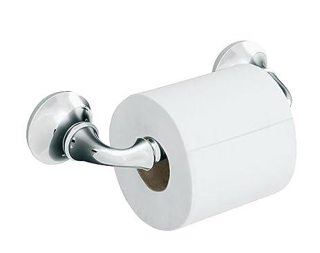 kohler k11374cp forte sculpted toilet tissue holder polished chrome