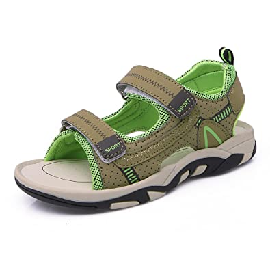 4c512e546 Kids Boys Girls Babys Open Toe Sandals Sports Outdoor Adjustable Two-Strap  Athletic Water Beach