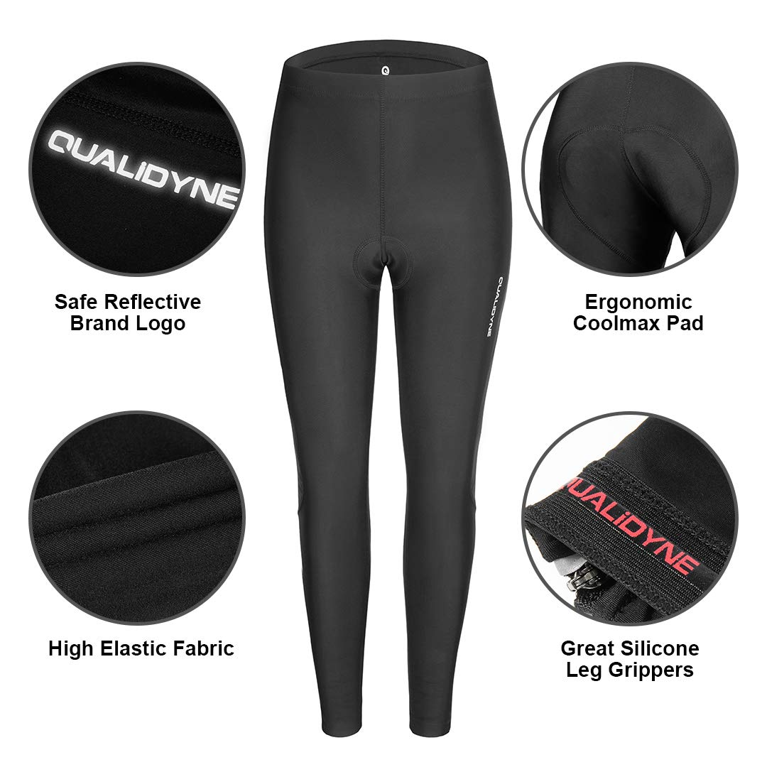 Women Cycling Tights Qulidyne Womens Bike Pants 3D Padded Compression Tights Breathable /& Quick Dry