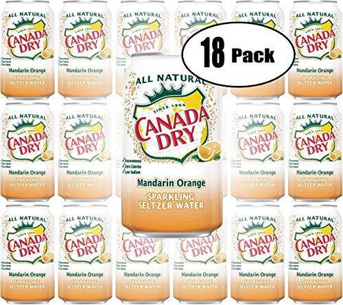 Canada Dry Mandarin Orange, Sparkling Seltzer Water, 12oz Can (Pack of 18, Total of 216 Oz) (Canada Dry Mandarin Orange Sparkling Seltzer Water)