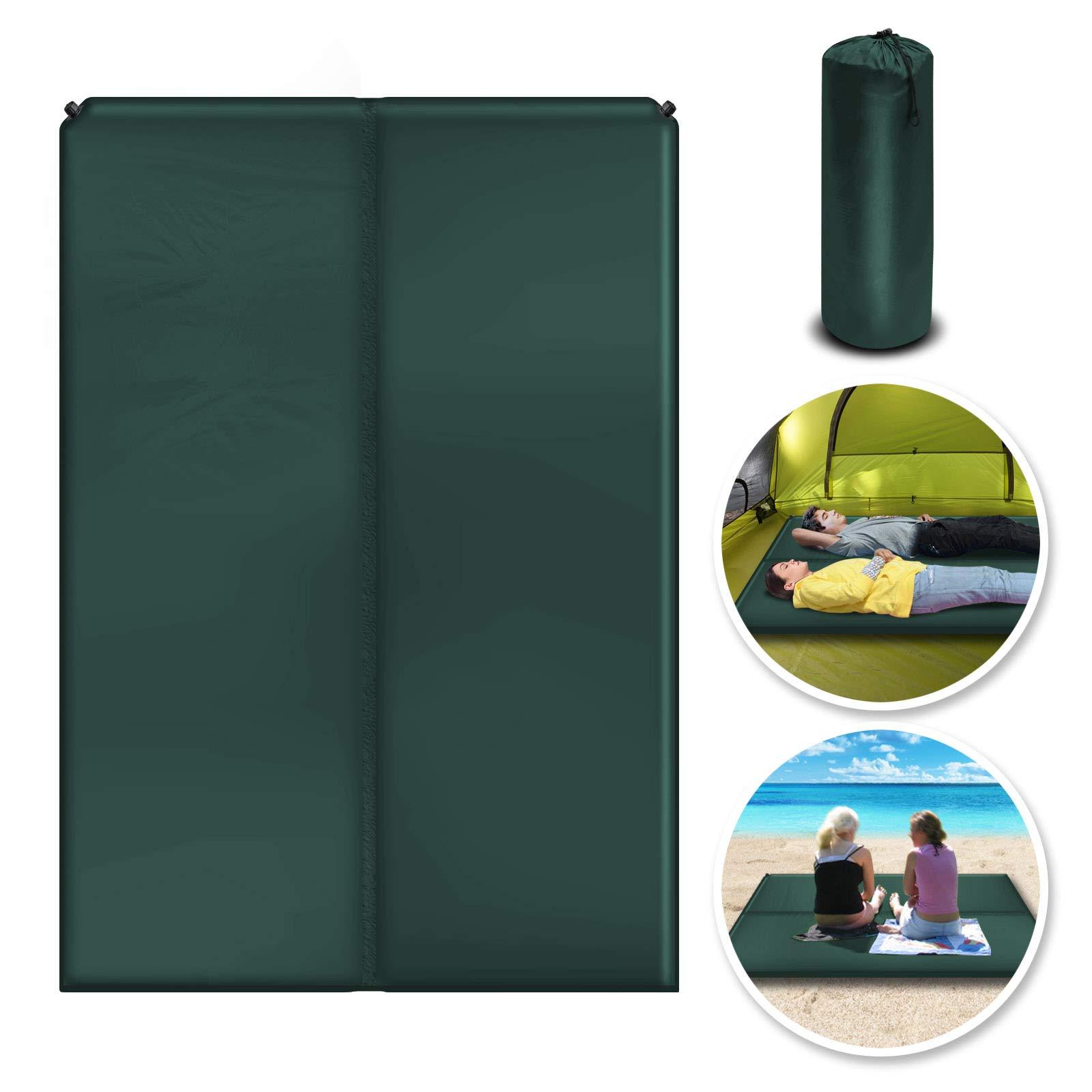 BenefitUSA Outdoor Folding Camping Mat Moistureproof Sleeping Bed 2 Person Mattress Cushion (Green) by Benefit-USA