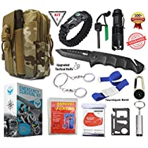 SIGMA - Emergency Survival Kit, Upgraded Tactical Professional Lifesaving Emergency Tools - Emergency Survival Gear kit For Climbing, Hiking and Outdoor