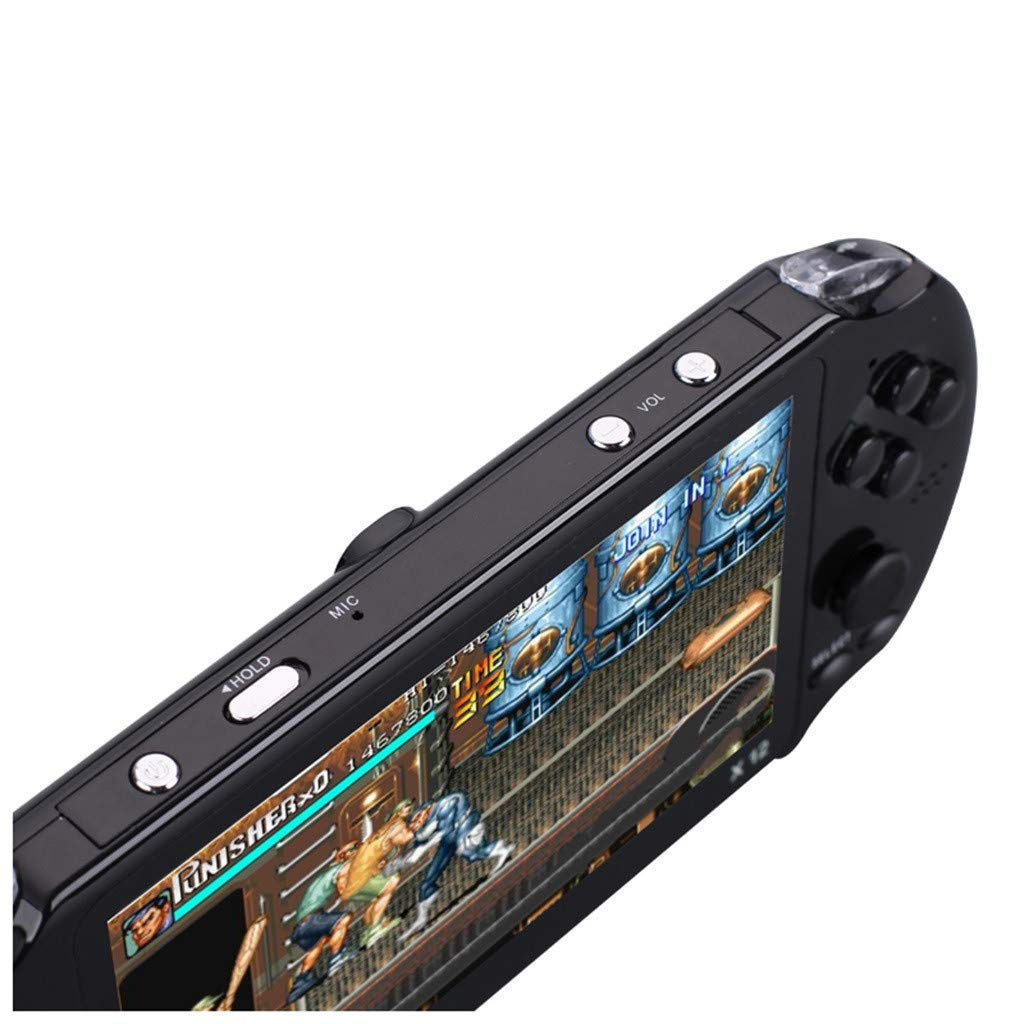 Basde Handheld Game Console Kids Adults, Mini Arcade Game Retro Machines for Kids with 3000 Classic Video Games Home Travel Portable Gaming System Childrens Tiny Toys Digital (Black) by Basde (Image #2)