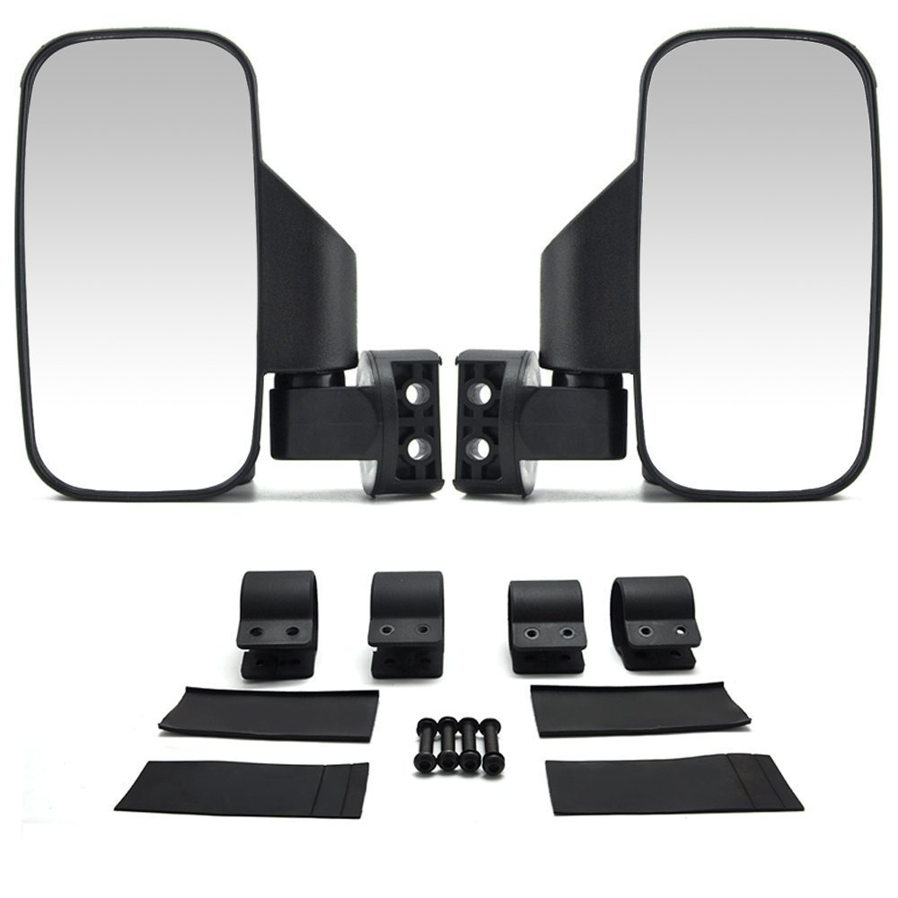 ISSYZONE UTV Side View Mirrors with 1.75'' or 2'' Roll Bar Cage, Adjustable Rear View Side Mirror for Polaris RZR, Can Am Maverick X3, Kwasaki Teryx, Deere Gator, Yamaha Rhino and YXZ by Issyzone
