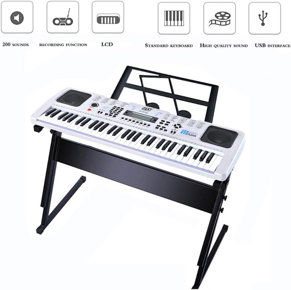 Niños Piano Juguete con,61Teclado Estándar Audio Interfaz USB 200 ...