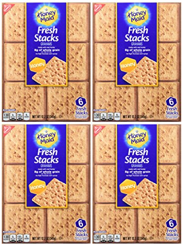 Nabisco, Honey Maid, Fresh Stacks, Honey Graham, 12.2oz Box (Pack (Fresh Graham Cracker)