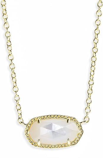 dc7be27c4 Amazon.com: Kendra Scott Birthstone Elisa June/ Ivory Mop Pendant Necklace:  Jewelry