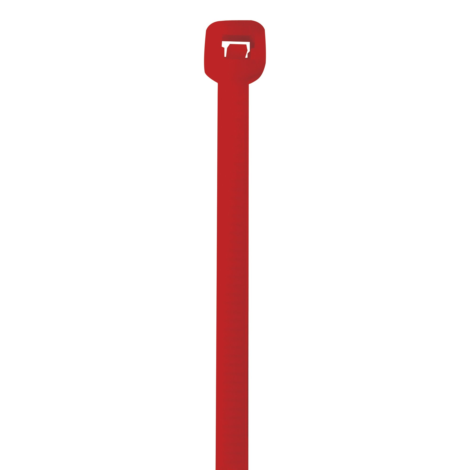 BOX USA BCT145B Colored Cable Ties, 50#, 14'', Red (Pack of 1000)