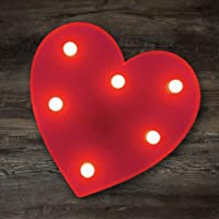 YOEEN LED Marquee Lights Heart Shaped LED Plastic Light Up Sign for Night Light Wedding Birthday Party Battery Powered…
