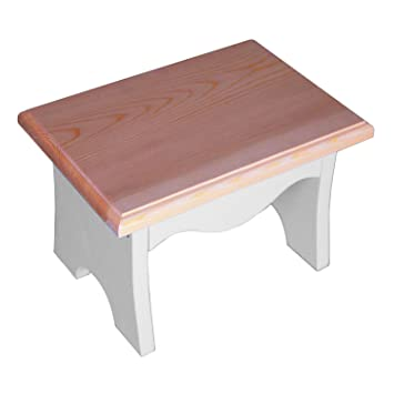 wooden step stool in a white u0026 wood finish handmade in europe