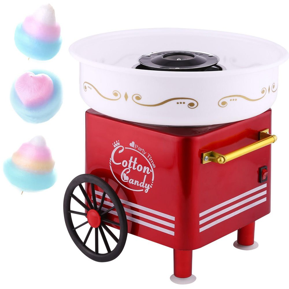 Rapesee Cute Casual Cotton Candy Machine, Stainless Steel Safe Electric Commercial Candy Floss Maker for Family Party …