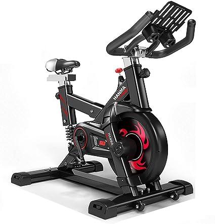 Bicicleta Estática de Fitness, Bici Spinning Bicicleta Fitness con Consola y Sensores de Pulso en Manillar,Capacidad Máxima de Carga 120 (kg) Ruido Bajo(Blanco, Negro),Black: Amazon.es: Deportes y aire libre