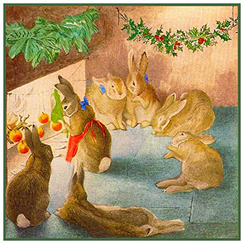 - Peter Rabbit Family Christmas Inspired by Beatrix Potter Counted Cross Stitch Pattern