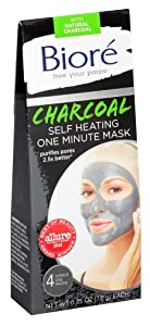 Biore Self Heating One Minute Mask 4 Count (2 Pack)