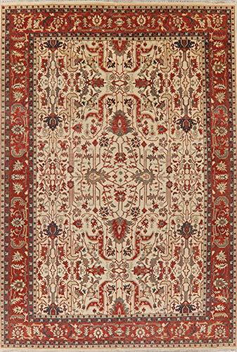 Geometric Oriental Heriz Serapi Area Rug New Persian Handmade 10x14 Wool Carpet (13' 10