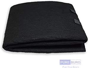 PUREBURG 1-PACK Cut-to-Fit Carbon Pad 16 x 48 inches for Air Filters Charcoal Sheet fits Air Purifiers Range Hoods Furnace Filters removes Odor VOC Parts Accessories Replacement Replenishment and more