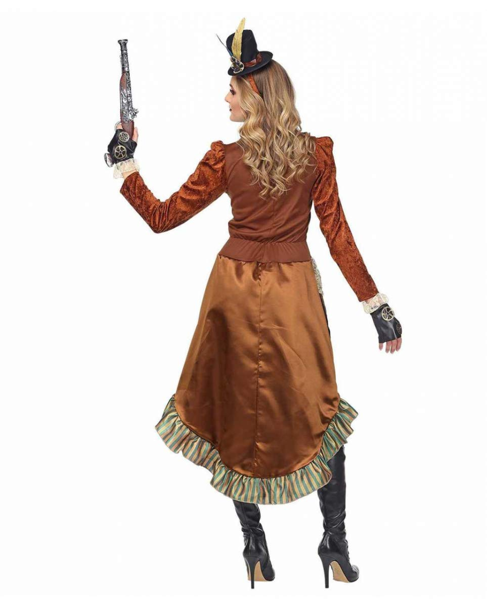 Horror-Shop Vestido De Traje De Steampunk con Mini Sombrero L ...