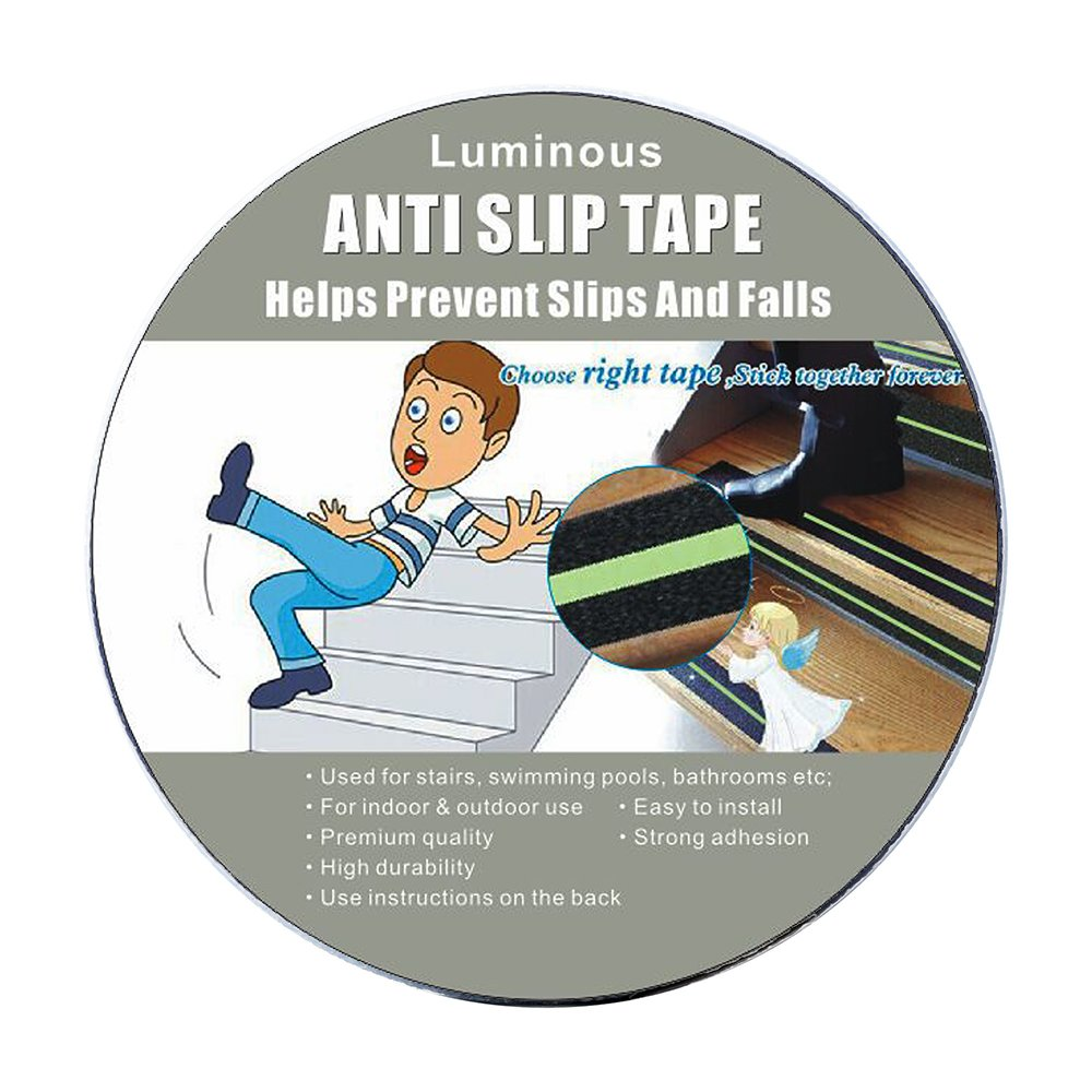 Anti Slip Tape Luminous , Yorwe Glowing in the Dark with Green Fluorescent Strips Safety Track Tape (2''width x 190''long,Luminous) by Yorwe (Image #7)