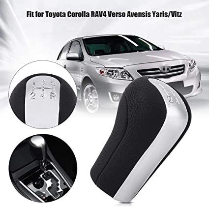 Minyinla 5 Speed Car Gear Stick Shift Knob Head Gear Shift Knob Handle for Toyota Corolla RAV4 Verso Avensis Yaris Vitz